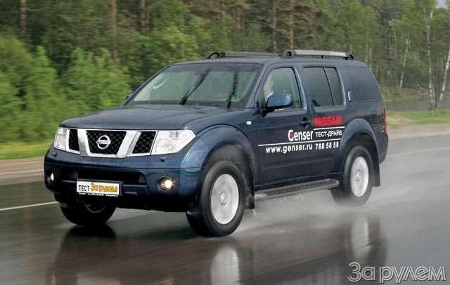 Тест Ford Explorer, Mitsubishi Pajero, Nissan Pathfinder. Ровесники века— фото 57021