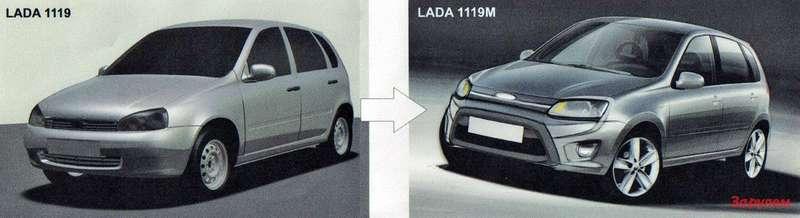 """Схема развития модельного ряда автомобилей """"Калина""""."""