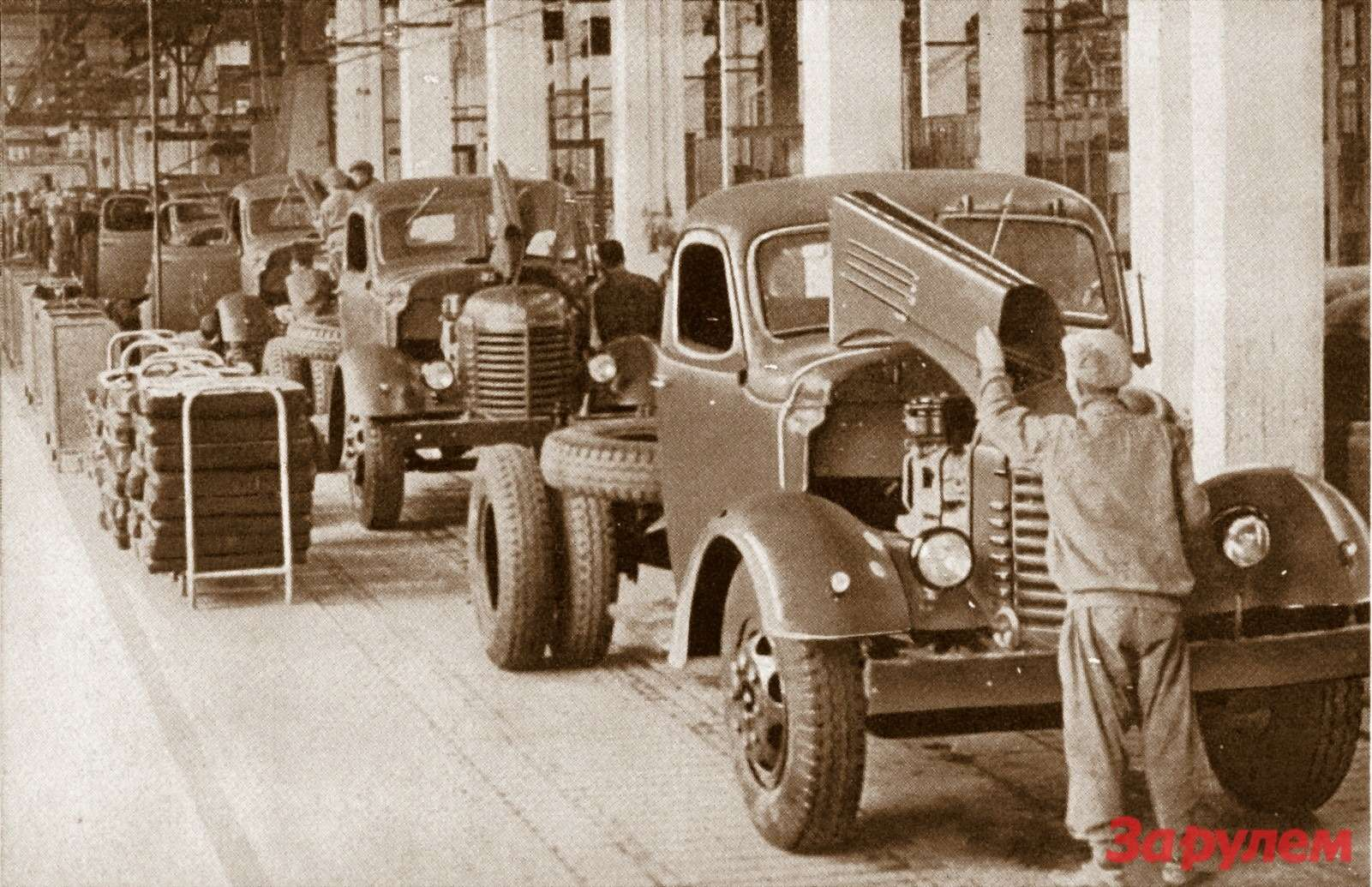 Конвейер вЧанчуне невозможно было отличить отмосковского. Первый грузовик сошел снего 13июля 1953 года