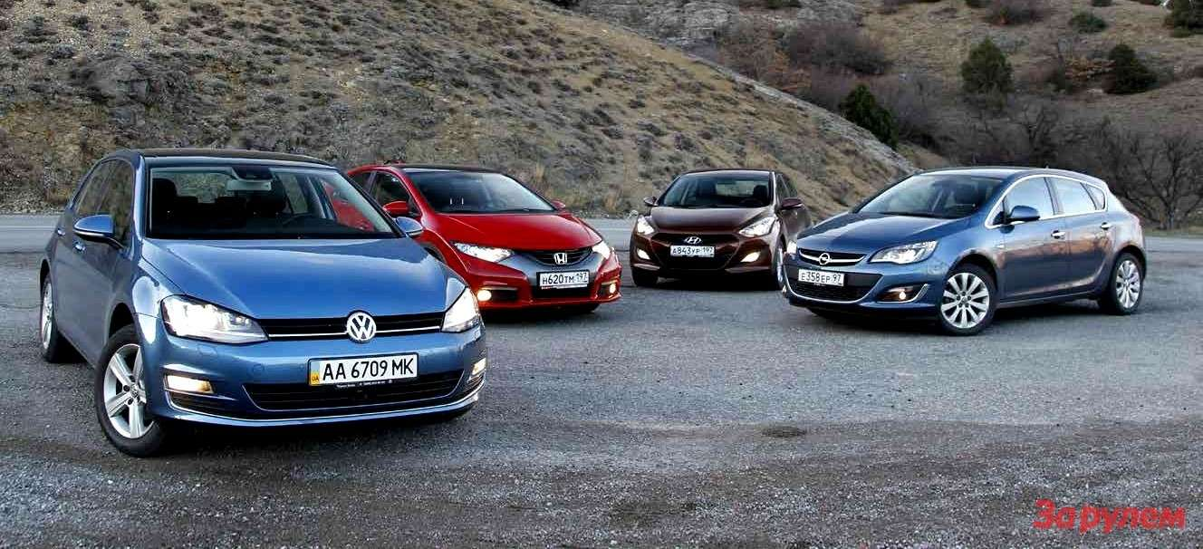 Volkswagen Golf, Honda Civic, Hyundai i30, Opel Astra