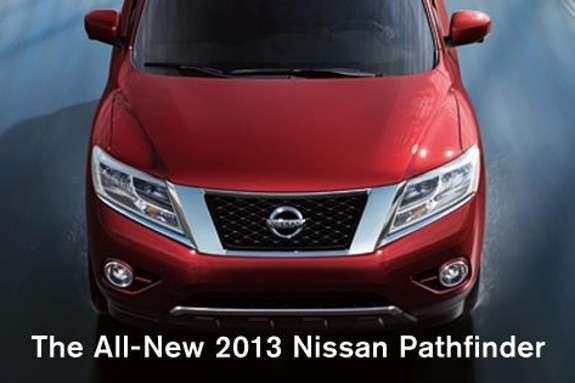 New Nissan Pathfinder front end
