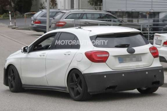 Mercedes-Benz A 45 AMG test prototype side-rear view