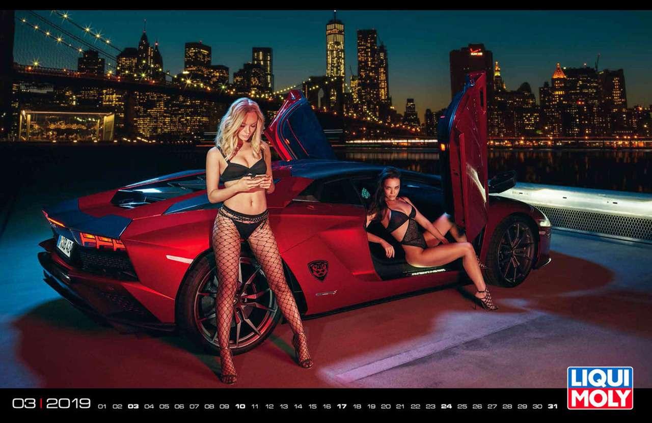 Девушки игорячие спорткары: Liqui Moly показала новый календарь— фото 904960