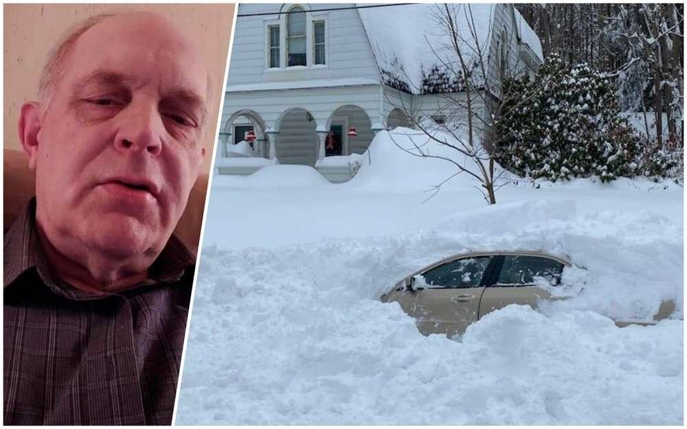 10часов вплену: снегоуборочная машина засыпала машину сводителем