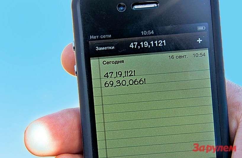 Координаты посадки спускаемого аппа- рата. Отклонение отрасчетных данных всего километр!