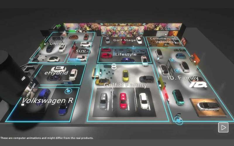 Экскурсия поновинкам: VWзапустил виртуальный выставочный стенд