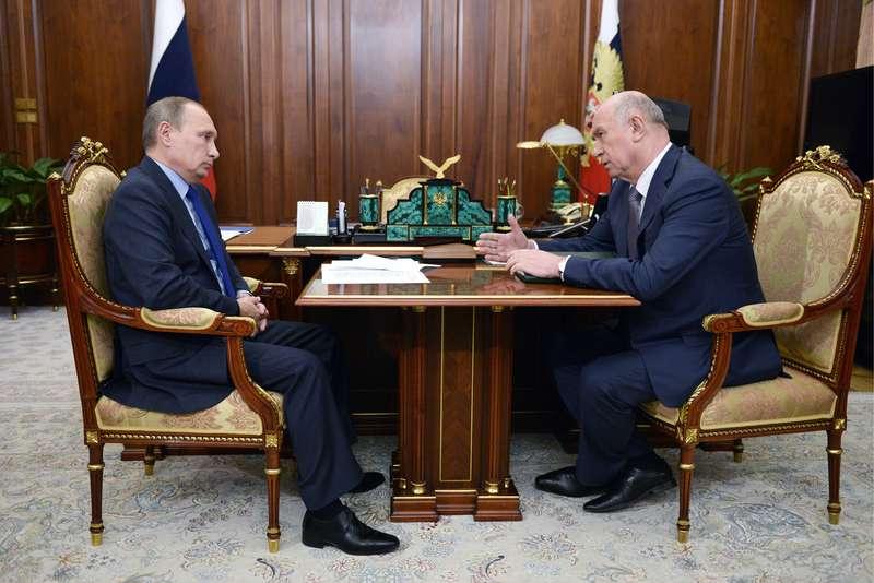 President Putin meets with Samara Region Governor Merkushkin