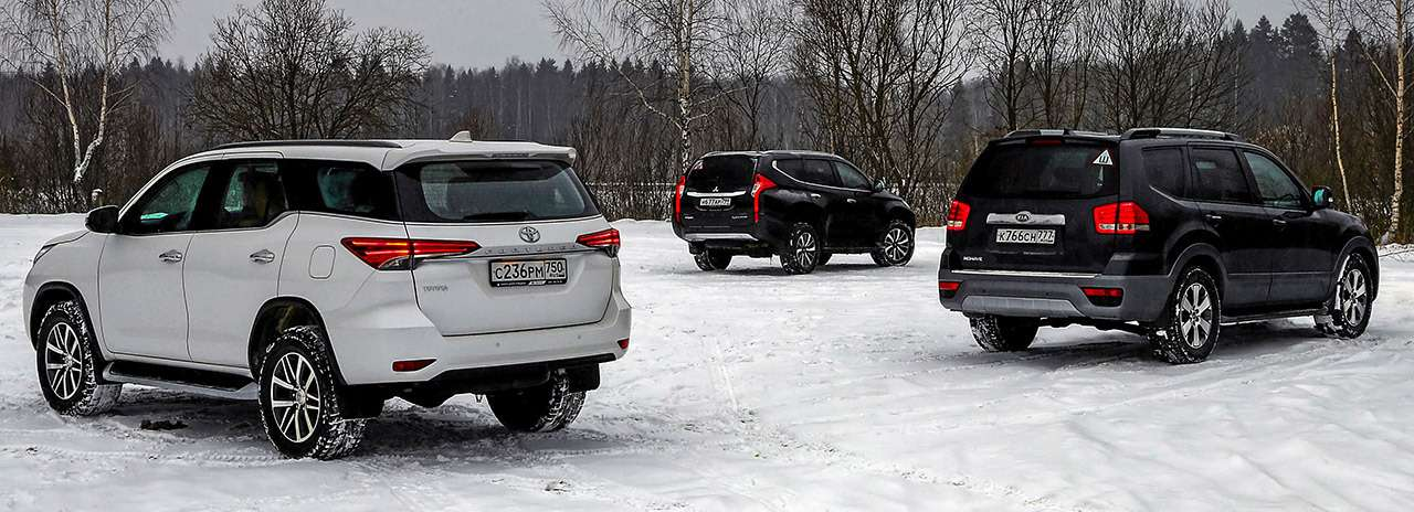 Toyota Fortuner, Mitsubishi Pajero Sport, Kia Mohave — супертест— фото 855633