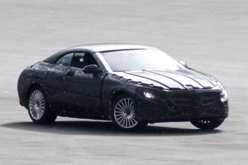 Mercedes-Benz S-class Cabriolet test prototype side-front view_no_copyright