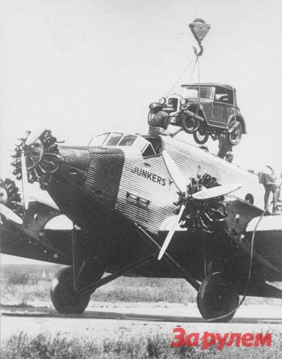 Neu-Guinea, Junkers G31mit Kfz auf Dach
