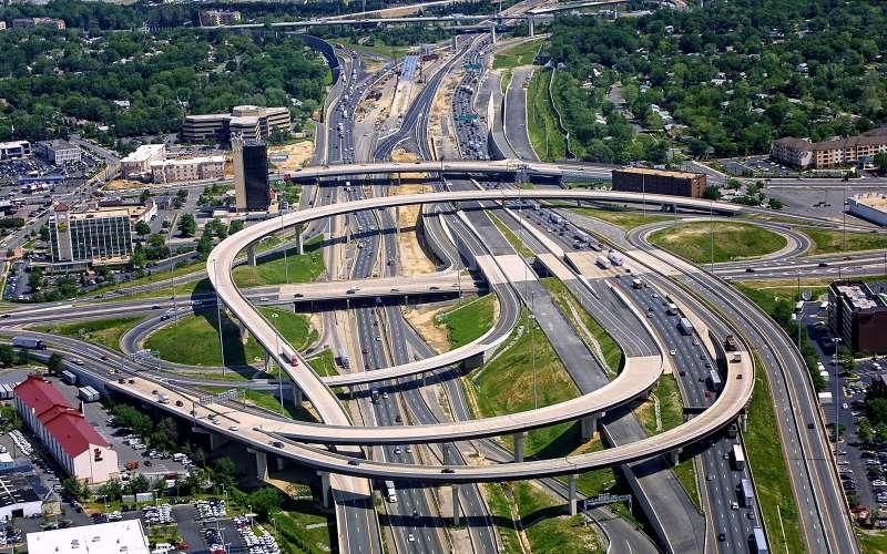 Springfield Interchange, Спрингфилд, Вирджиния, США.