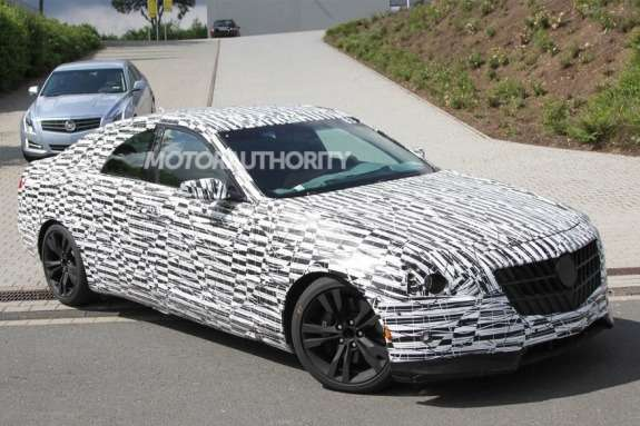 Next-generation Cadillac CTS test prototype  side-front view