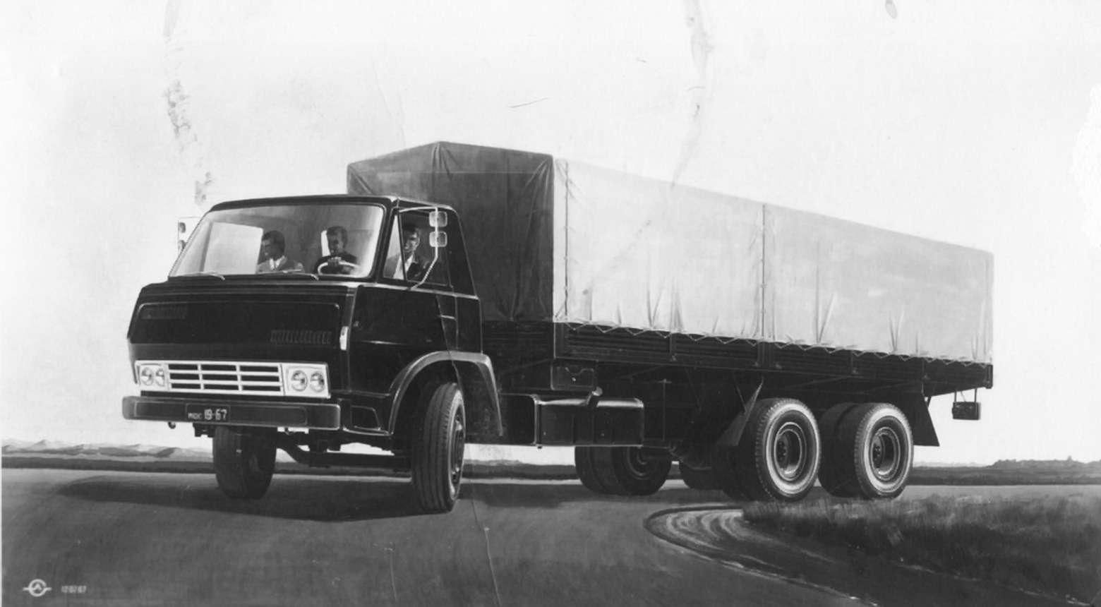 Эскиз грузовика ЗиЛ-170 Льва Самохина, 1969г. Взято ссайта rusautomobile.livejournal.com