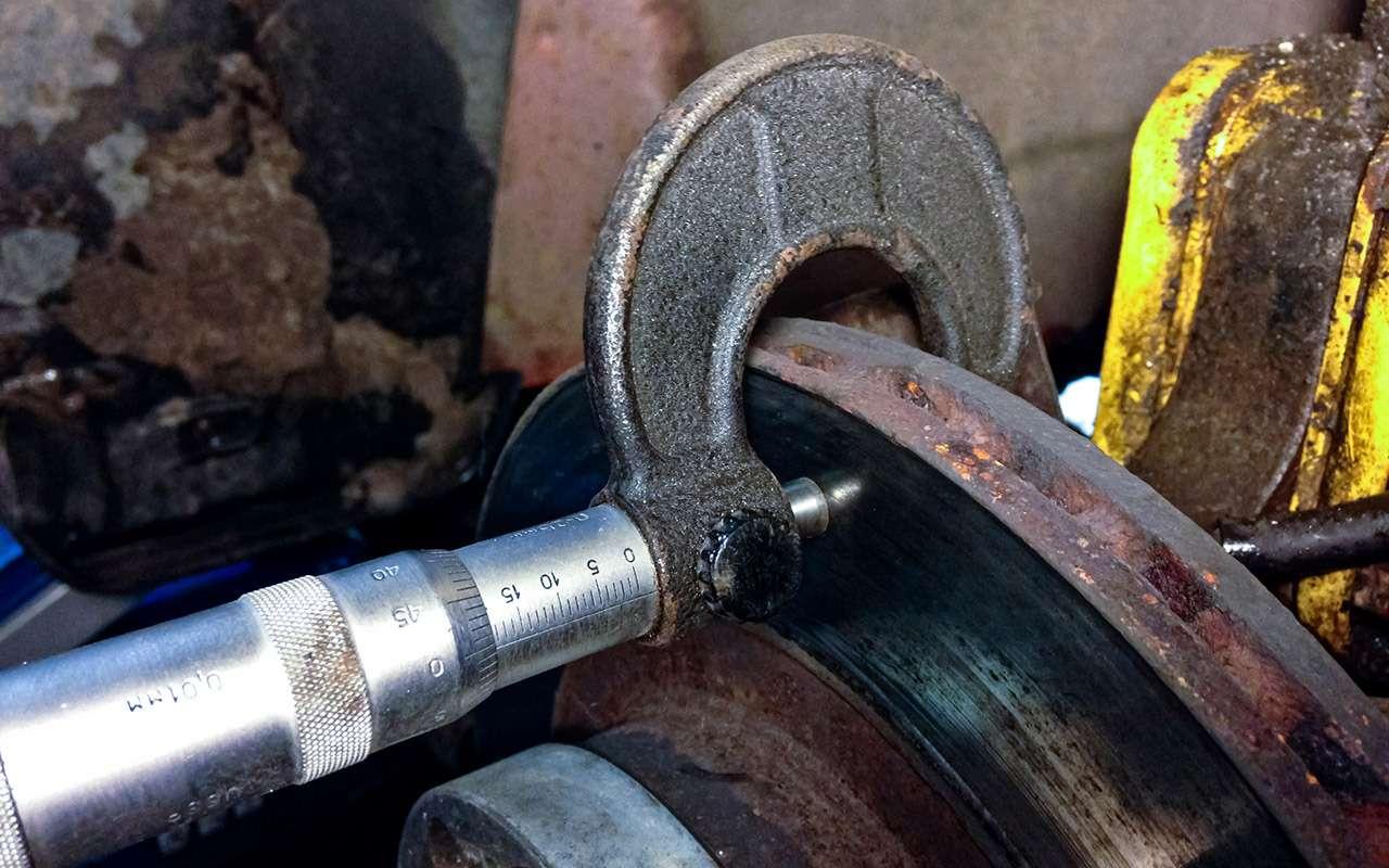 Лада Калина после 72тыс. км: ржавчина итест тормозов— фото 944407