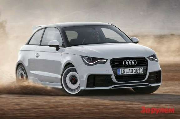 Audi A1 quattro side-front view