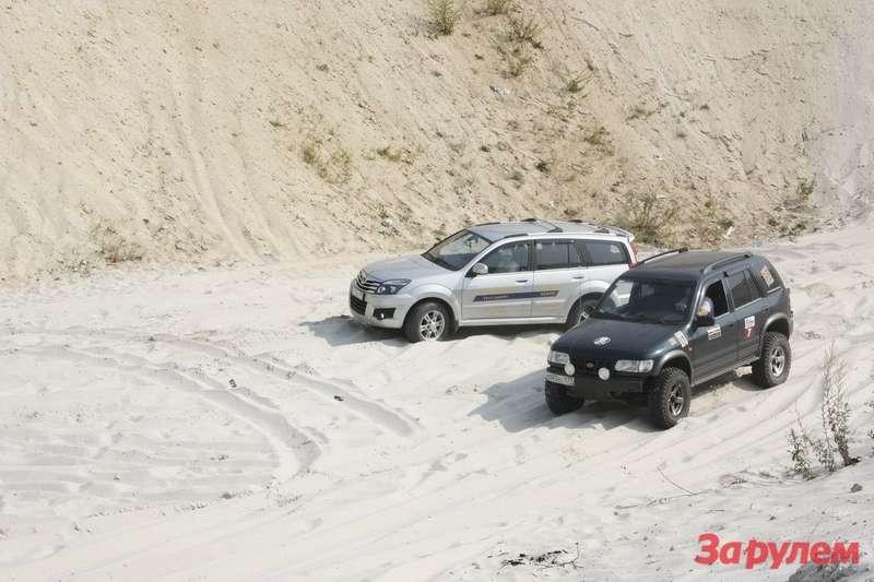 Песчаный карьер не делает различий среди марок автомобилей