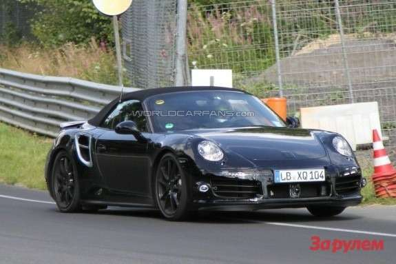Porsche 911 Turbo Cabriolet 991 side-front view