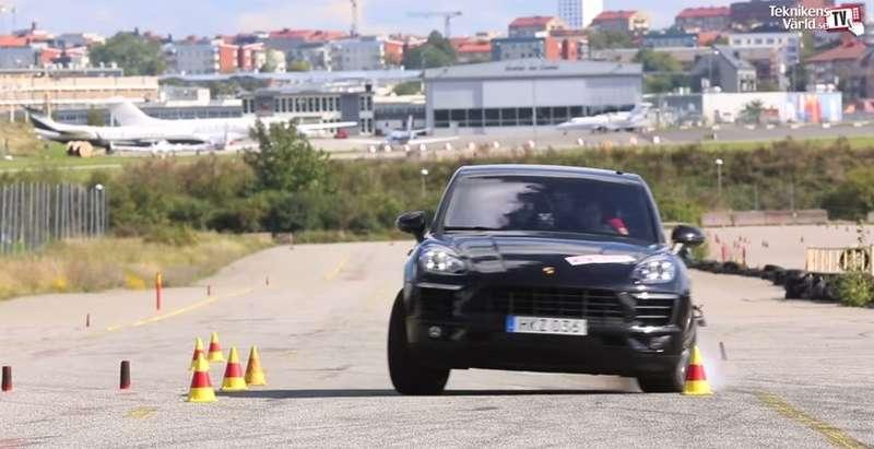 Porsche Macan не справился с«лосиным тестом» (ВИДЕО)