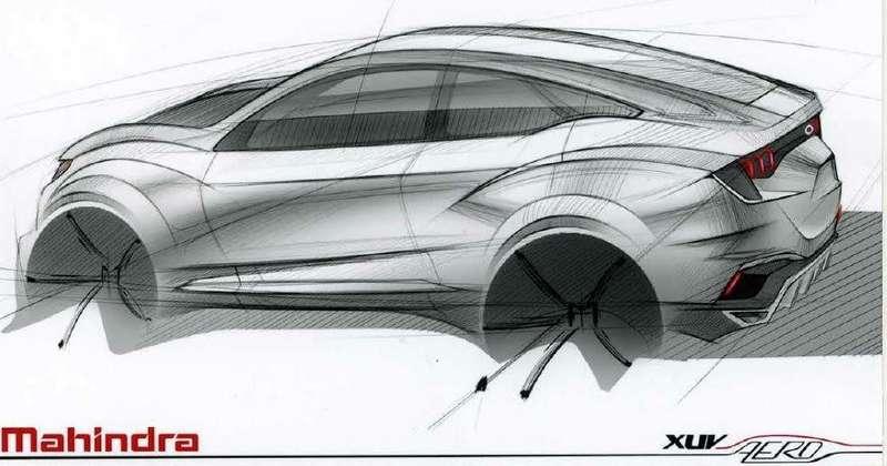 Mahindra-XUV-Aero-concept-design-sketch