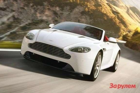 Aston Martin V8Vantage Roadster side-front view