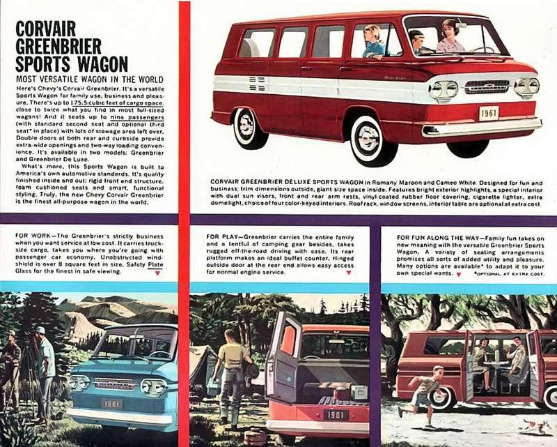 Микроавтобус (вамериканской классификации— van), выпускавшийся корпорацией General Motors набазе скандально известного Chevrolet Corvair в1961-1965 годах. Заднемоторная компоновка позволила спланировать салон более рационально