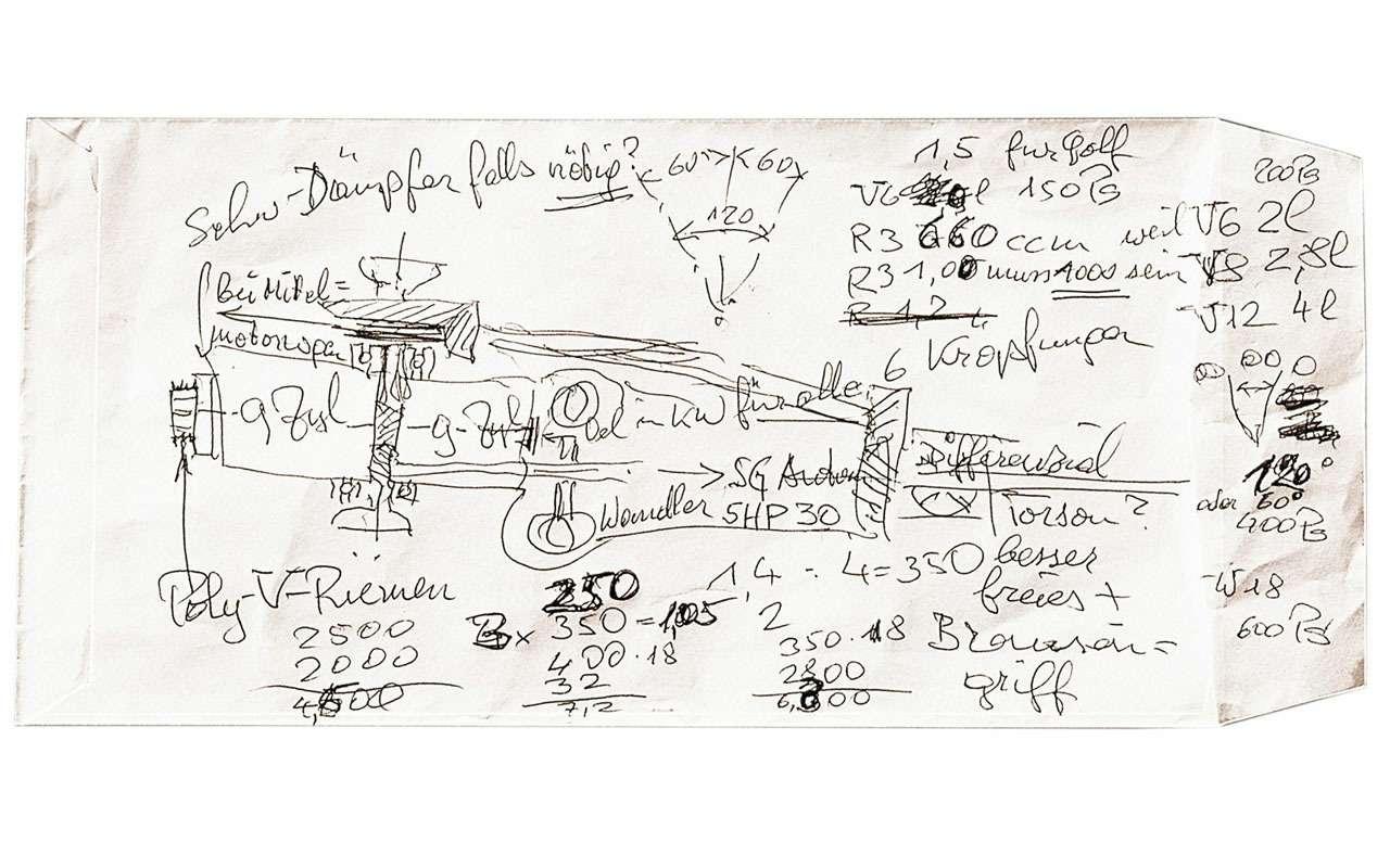 Всеначалось срисунка наконверте— краткая история Bugatti Veyron— фото 1117491