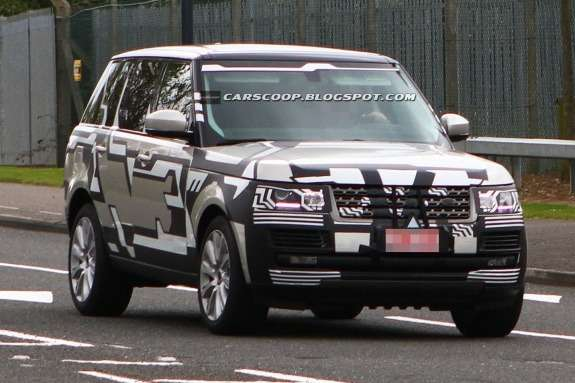 New Land Rover Range Rover test prototype side-front view