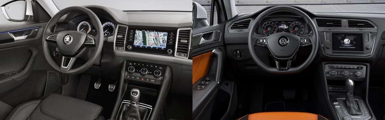 Skoda Kodiaq или Volkswagen Tiguan: какой кроссовер выбрать?— фото 861062