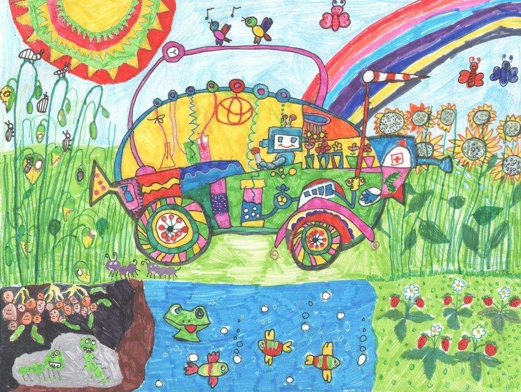 Дети нарисовали дляТойоты автомобили мечты— фото 728905