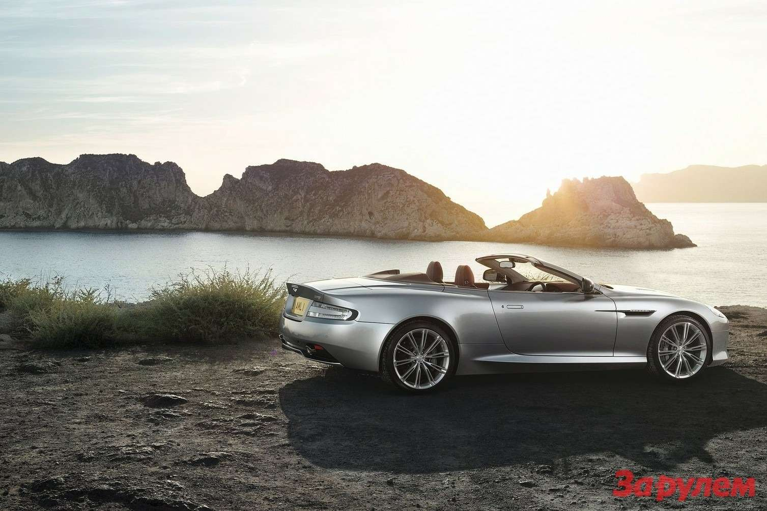 Restyled Aston Martin DB9 Volante side-rear view