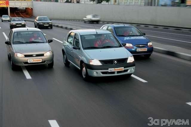 Тест Lada Kalina, Renault Logan, Chevrolet Aveo. Кому наРуси хорошо?— фото 57677