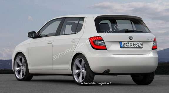 Next Skoda Fabia rendering byL'Automibile side-rear view