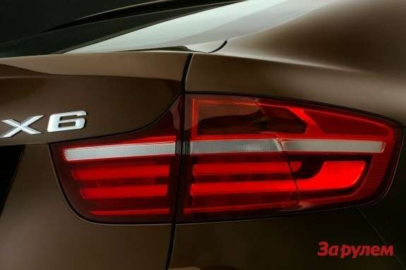 Facelifted BMW X6 rear lamp