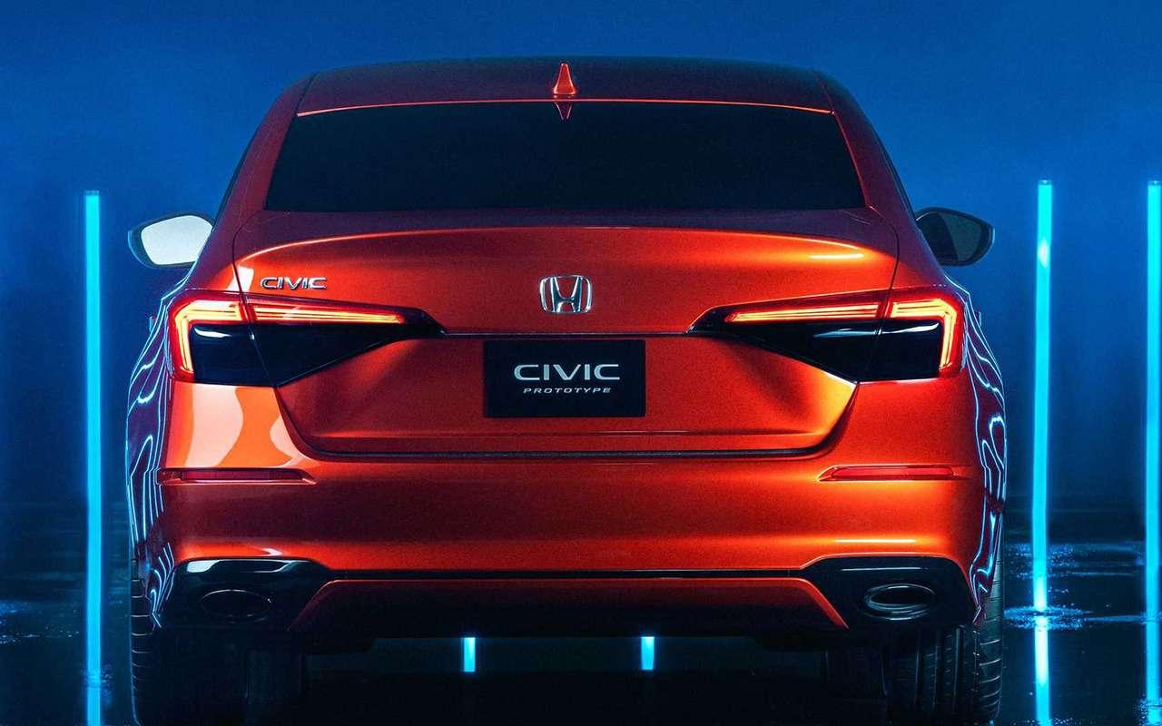 Новый Honda Civic: показали прототип— фото 1202561