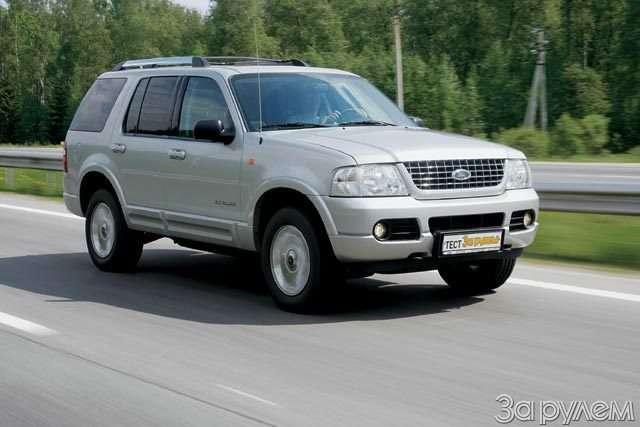 Тест Ford Explorer, Mitsubishi Pajero, Nissan Pathfinder. Ровесники века— фото 57036