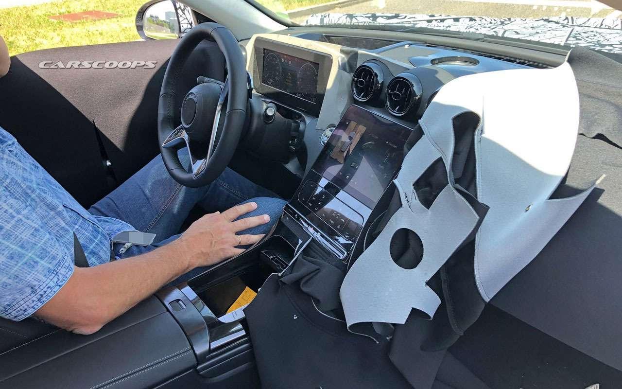 Mercedes-Benz C-класса получит огромный дисплей-планшет— фото 1130461