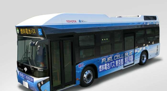 Водородный автобус Toyota иHino
