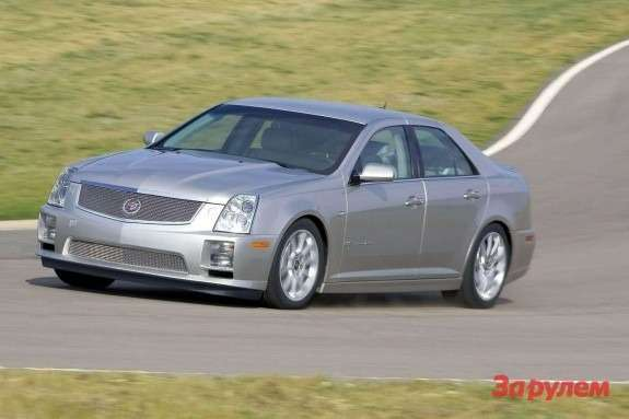 Cadillac STS-V side-front view