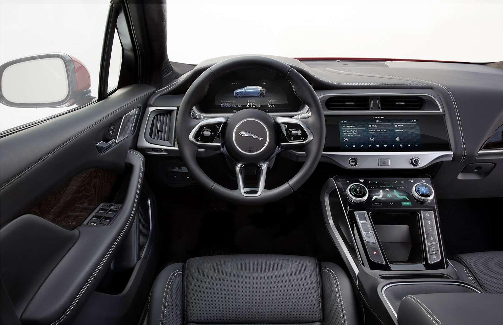 Jaguar I-Pace: первая электрическая «кошка». Ждем вРоссии!— фото 849700