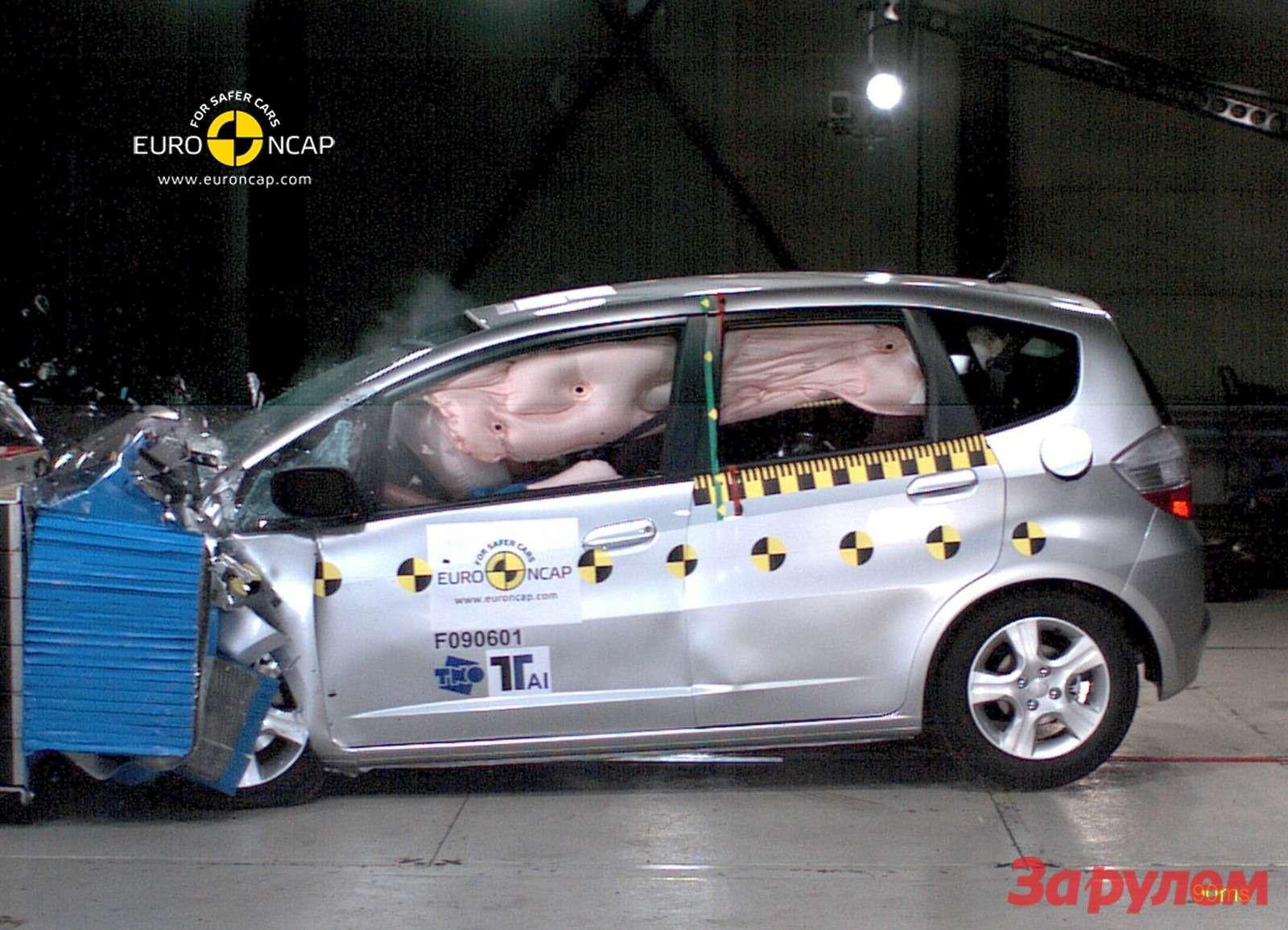 Краш-тест Honda Jazz