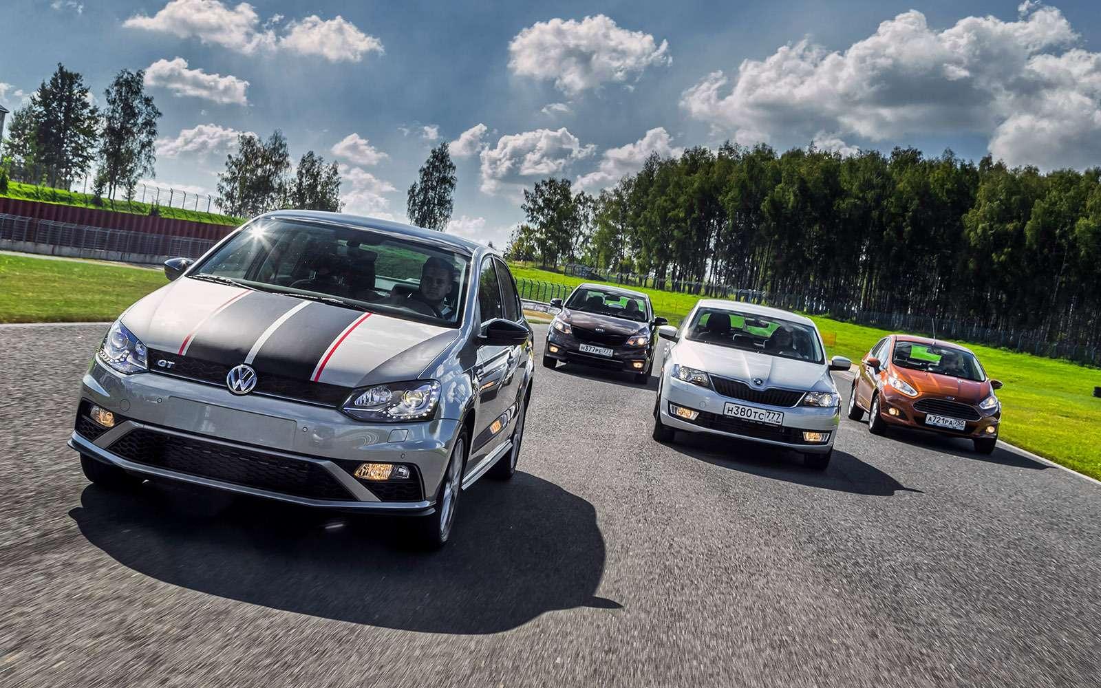 VWPolo GTпротив конкурентов: тест на«Смоленском кольце»— фото 644214