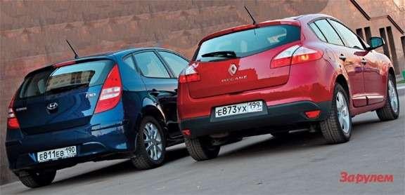Hyundai i30, Renault Megane