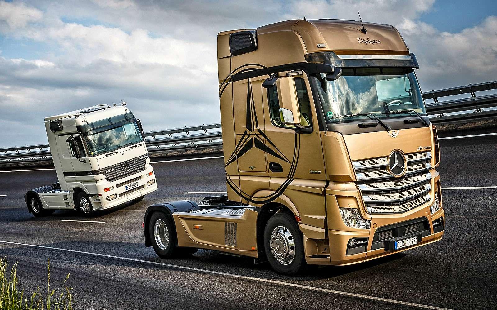 Грузовики Mercedes-Benz Actros: двадцать лет спустя— фото 624708