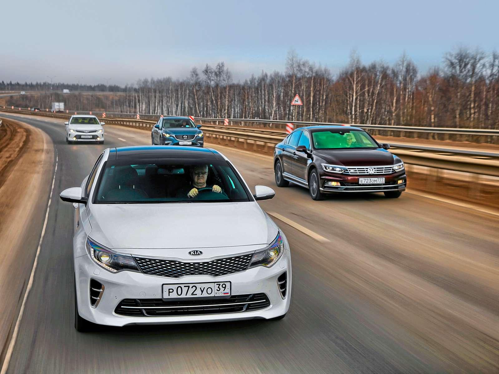Супертест: новая Kia Optima против трех конкурентов— фото 596189
