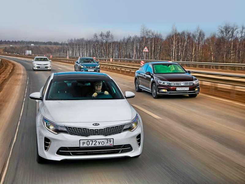 Супертест: новая Kia Optima против трех конкурентов