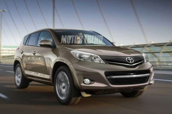 Next Toyota RAV4 rendering by Motor Trend side-front view