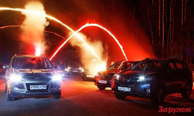 Ford Kuga, Suzuki Grand Vitara, Mitsubishi Outlander, Mazda CХ-5, Honda CR-V, Тoyota RAV4