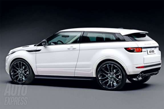Range Rover Evoque Sport rendering by Auto Express side-rear view