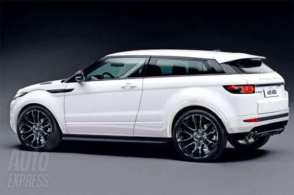 Range Rover Evoque Sport rendering byAuto Express side-rear view