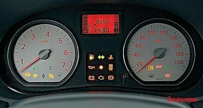 «Рено»: номер включенной передачи отображается только в ручном режиме.